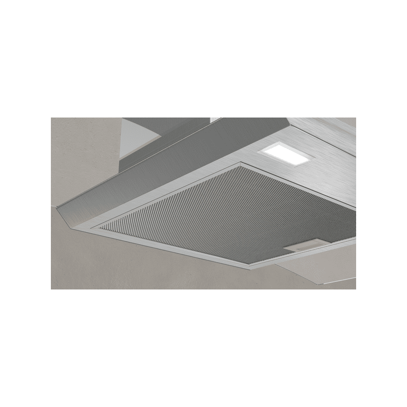 Neff H617xW900xD488 Curved Glass Chimney Hood - Stainless Steel additional image 2