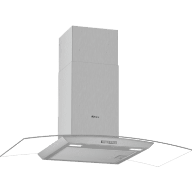 Neff H617xW900xD488 Curved Glass Chimney Hood - Stainless Steel