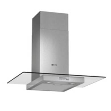 Neff H634xW700xD540 Chimney Cooker Hood - Stainless Steel and Grey Glass