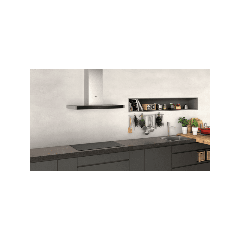 Neff H635xW900xD500 Chimney Cooker Hood - Stainless Steel additional image 3