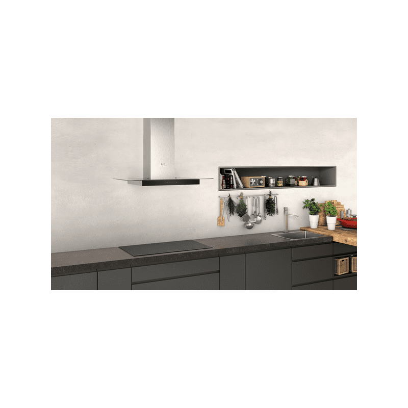 Neff H635xW900xD525 Chimney Cooker Hood - Stainless Steel additional image 3