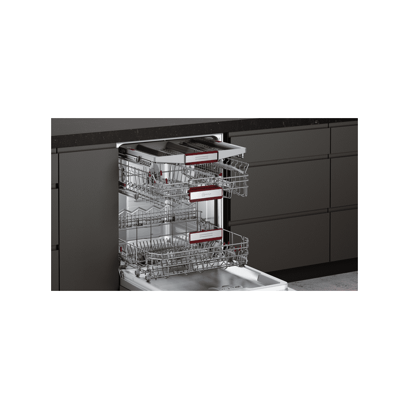 Neff H815xW598xD550 Fully Integrated Dishwasher-Door Open Assist additional image 2