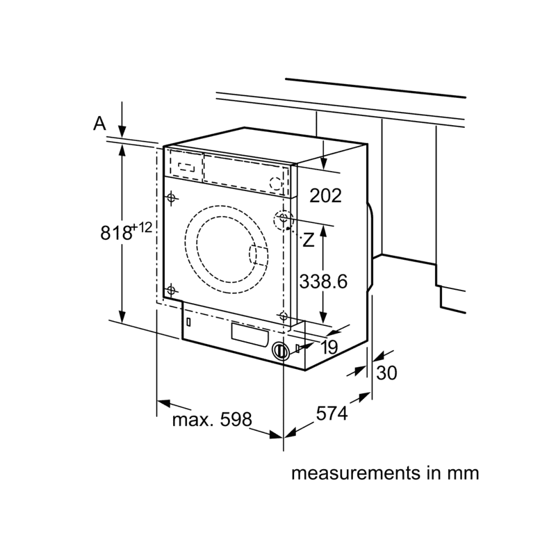 Neff H818xW596xD544 Integrated Washing Machine (8kg) additional image 5