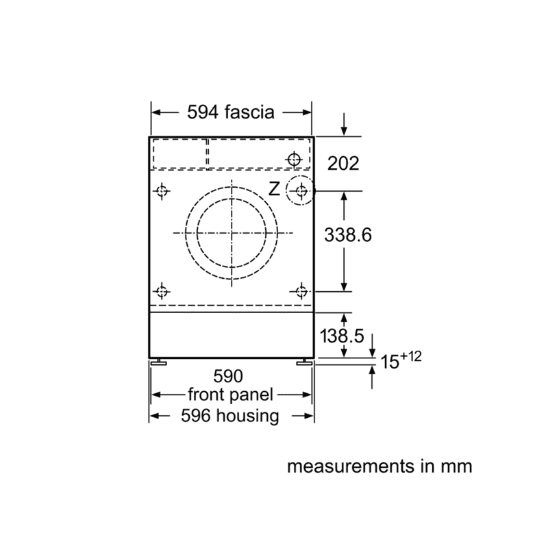 Neff H818xW596xD544 Integrated Washing Machine (8kg) additional image 7