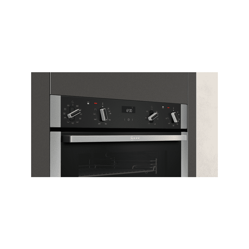 Neff H888xW594xD550 Built In Double Pyrolytic Oven additional image 2