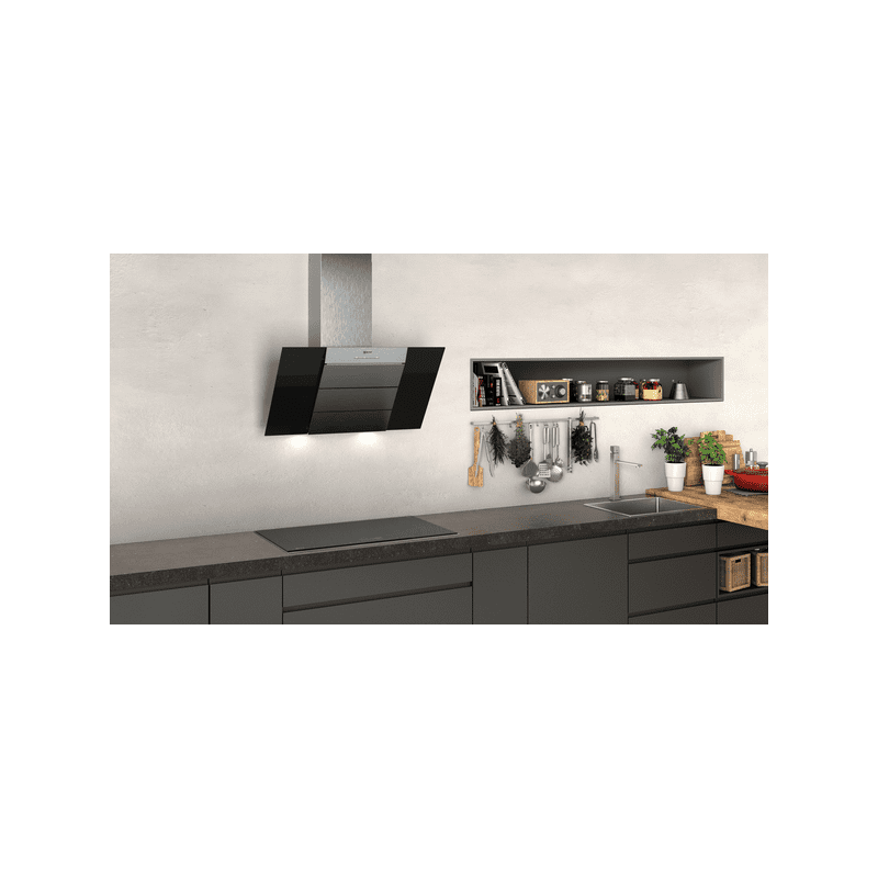 Neff H898xW790xD467 Chimney Cooker Hood - Black and Stainless Steel additional image 1