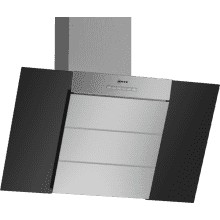 Neff H898xW790xD467 Chimney Cooker Hood - Black and Stainless Steel