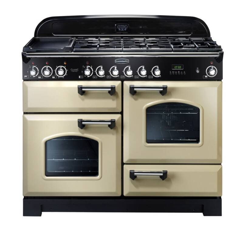 Rangemaster CDL110DFFCR/C Classic Deluxe 110 FSD Dual Fuel - Cream/Chrome - CDL110DFFCR/C primary image