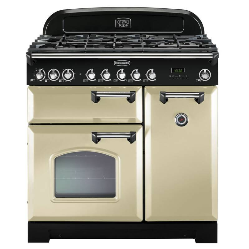 Rangemaster CDL90DFFCR/C Classic Deluxe 90 Dual Fuel FSD - Cream/Chrome - CDL90DFFCR/C primary image