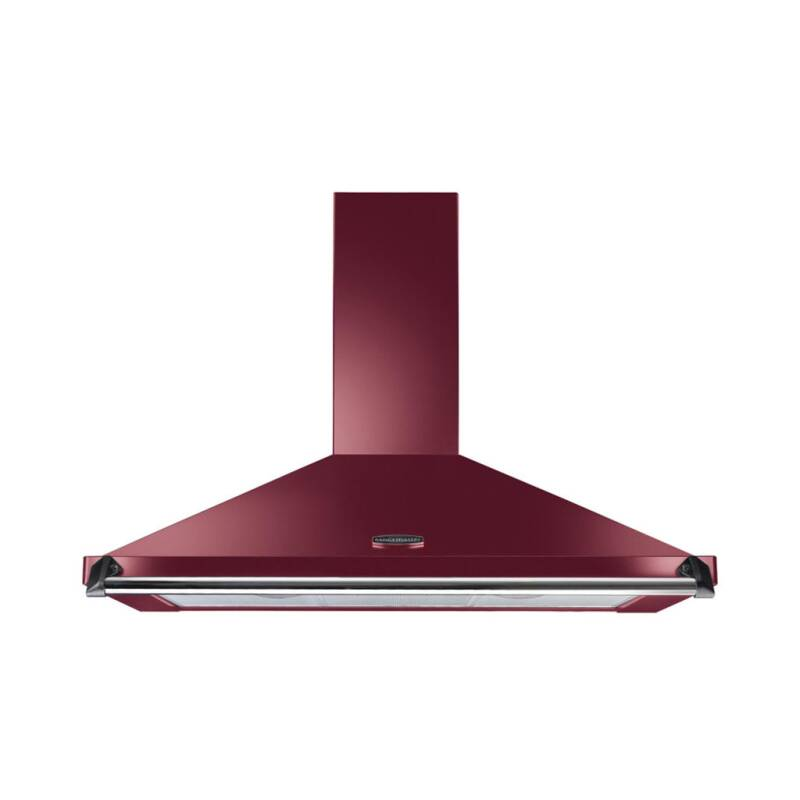 Rangemaster CLAHDC100CY/C Classic 1000mm Chimney Cooker Hood - Cranberry/Chrome - CLAHDC100CY/C primary image