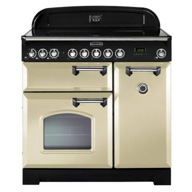 Rangemaster Classic Deluxe 90 Ceramic - Cream/Chrome