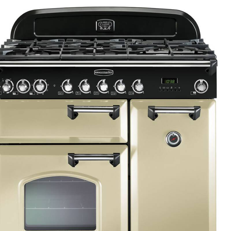 Rangemaster Classic Deluxe 90 Dual Fuel FSD - Cream/Chrome additional image 1
