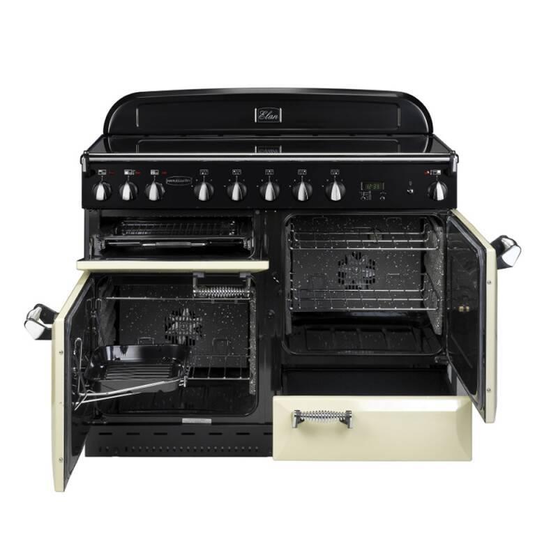 rangemaster classic deluxe induction 110cm cream chrome. Black Bedroom Furniture Sets. Home Design Ideas