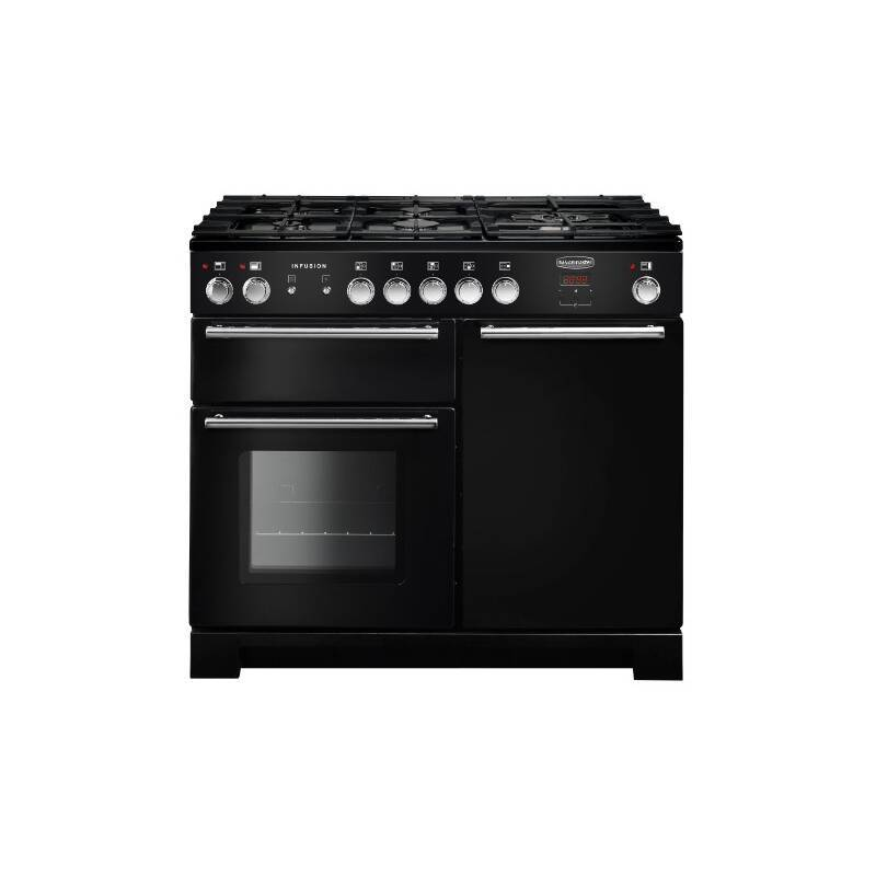 Rangemaster Infusion 100cm Dual Fuel Range Cooker - Black primary image