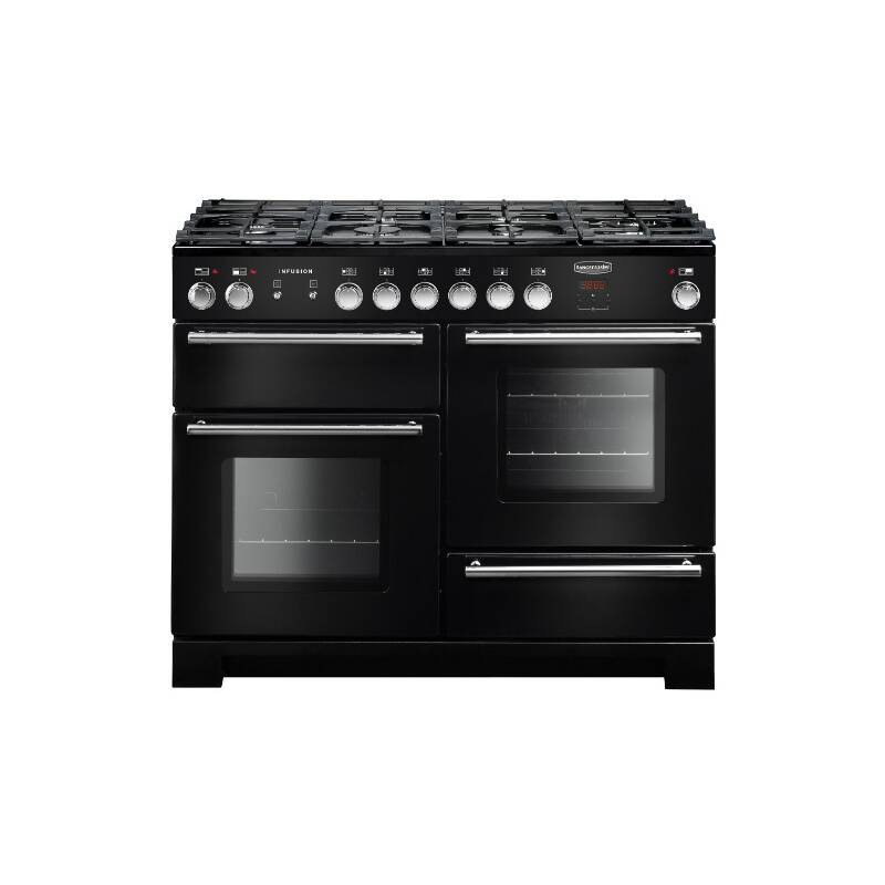Rangemaster Infusion 110cm Dual Fuel Range Cooker - Black primary image