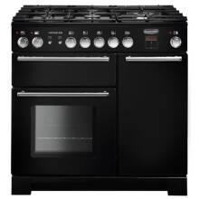 Rangemaster Infusion 90cm Dual Fuel Range Cooker - Black