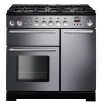 Rangemaster Infusion 90cm Dual Fuel Range Cooker - Stainless Steel