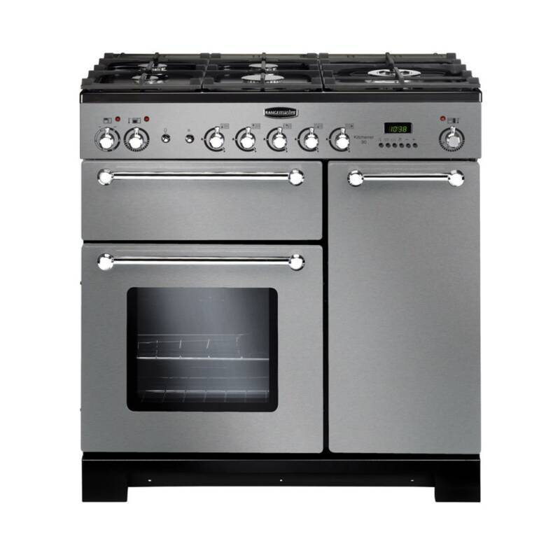 Rangemaster KCH90DFFSS/C Kitchener 90 Dual Fuel - Stainless Steel/Chrome - KCH90DFFSS/C primary image