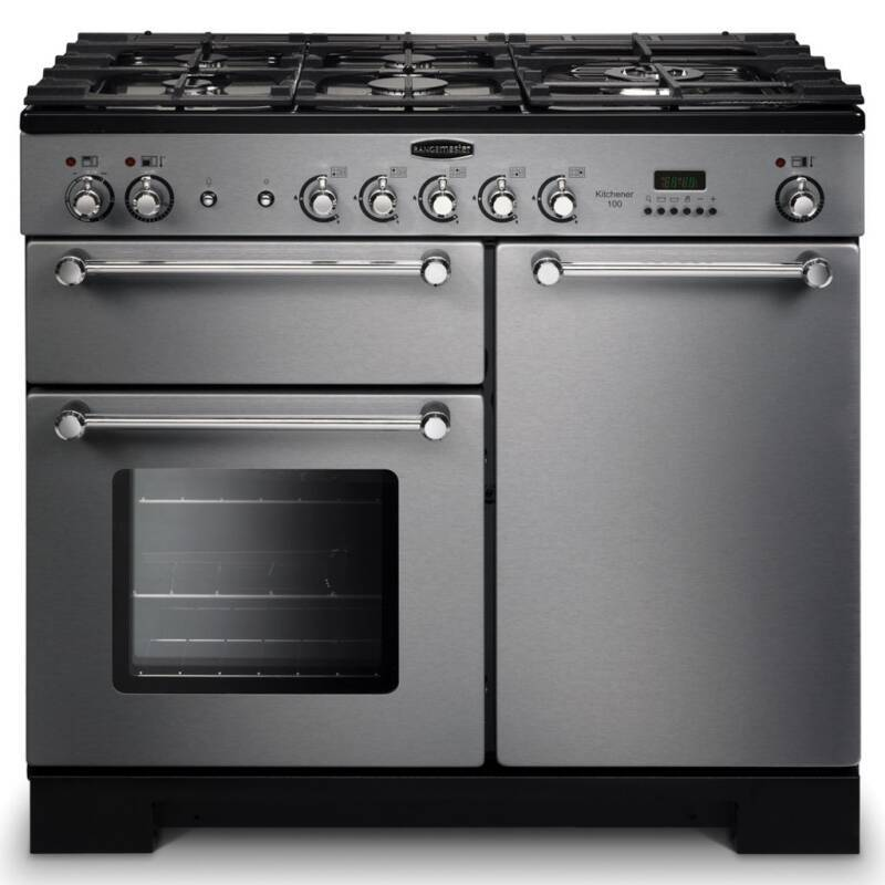 Rangemaster Kitchener 100 Dual Fuel - Stainless Steel primary image