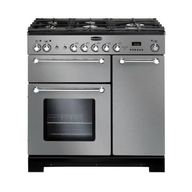 Rangemaster Kitchener 90 Dual Fuel Stainless Steel