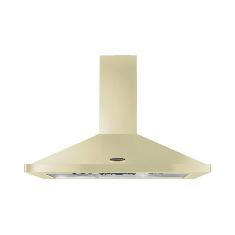 Rangemaster LEIHDC100CR/C 1000mm Chimney Cooker Hood - Cream/Chrome - LEIHDC100CR/C primary image