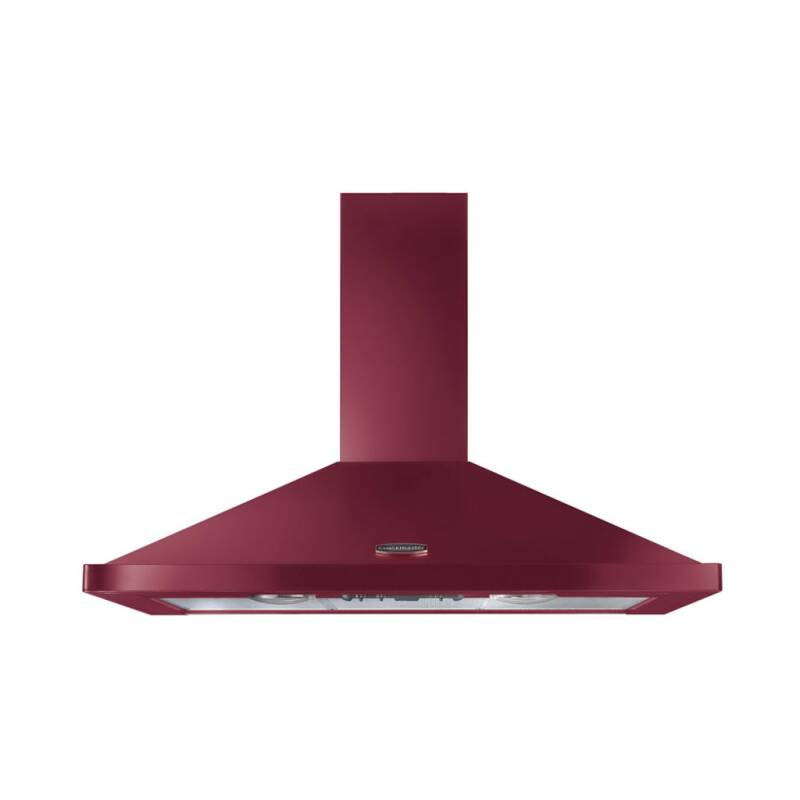 Rangemaster LEIHDC90CY/C 900mm Chimney Cooker Hood Cranberry Chrome - LEIHDC90CY/C primary image
