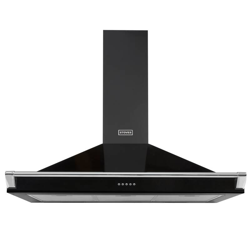 Stoves Richmond 100cm Chimney Hood with Rail - Black primary image