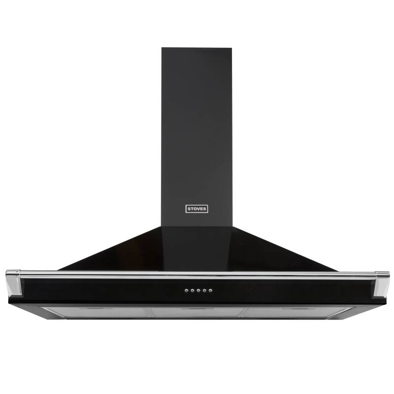 Stoves Richmond 110cm Chimney Hood with Rail - Black primary image