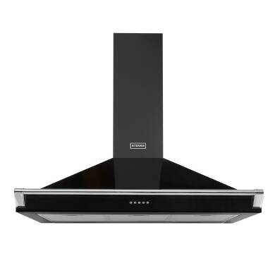 Stoves Richmond 90cm Chimney Hood with Rail - Black