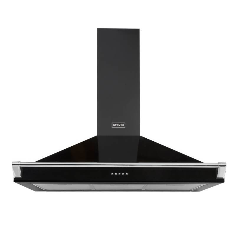 Stoves Richmond 90cm Chimney Hood with Rail - Black primary image
