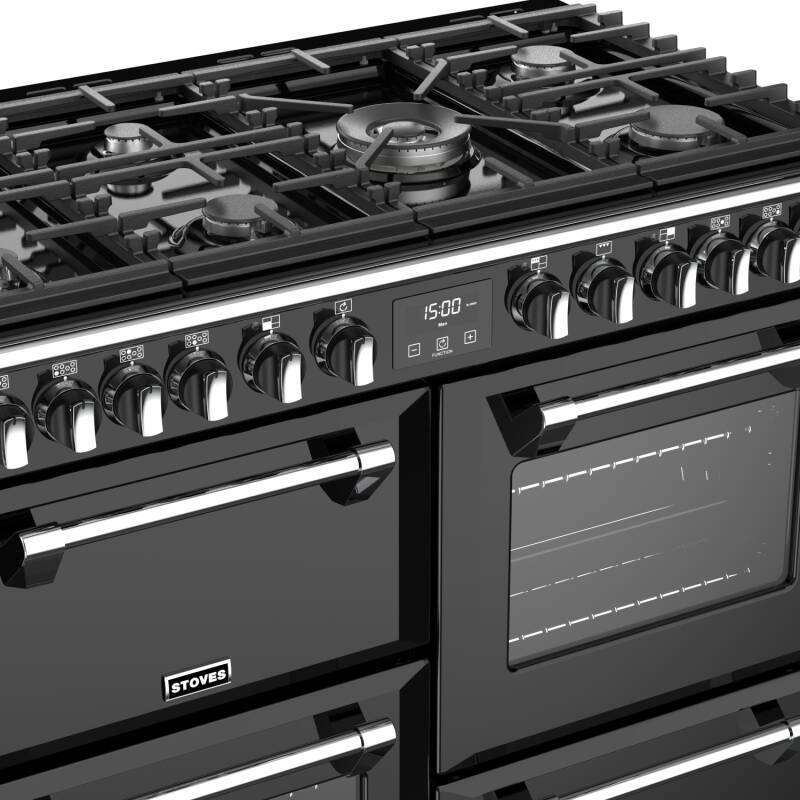 Stoves Richmond Deluxe 100cm Dual Fuel Range Cooker - Black additional image 2