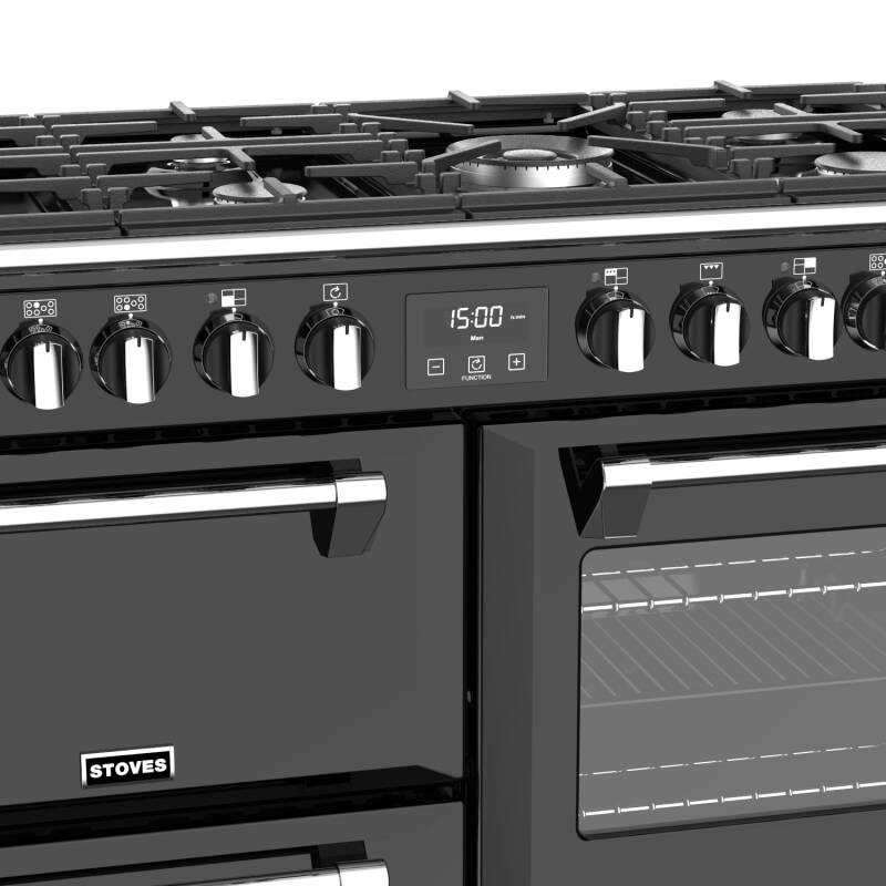 Stoves Richmond Deluxe 100cm Dual Fuel Range Cooker - Black additional image 3