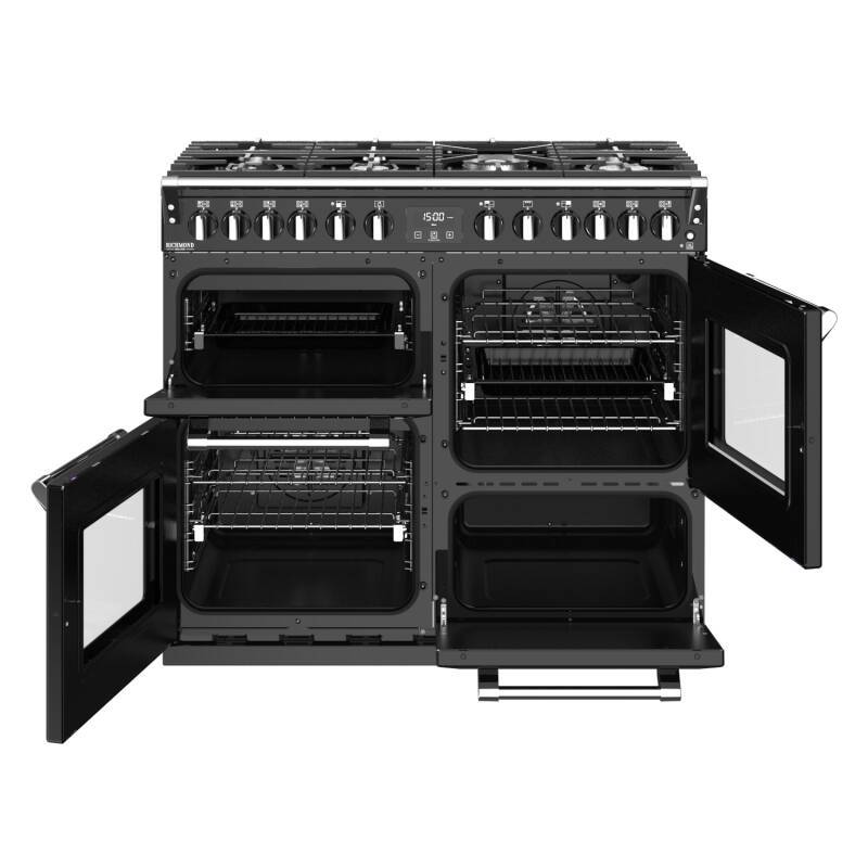 Stoves Richmond Deluxe 100cm Dual Fuel Range Cooker - Black additional image 4
