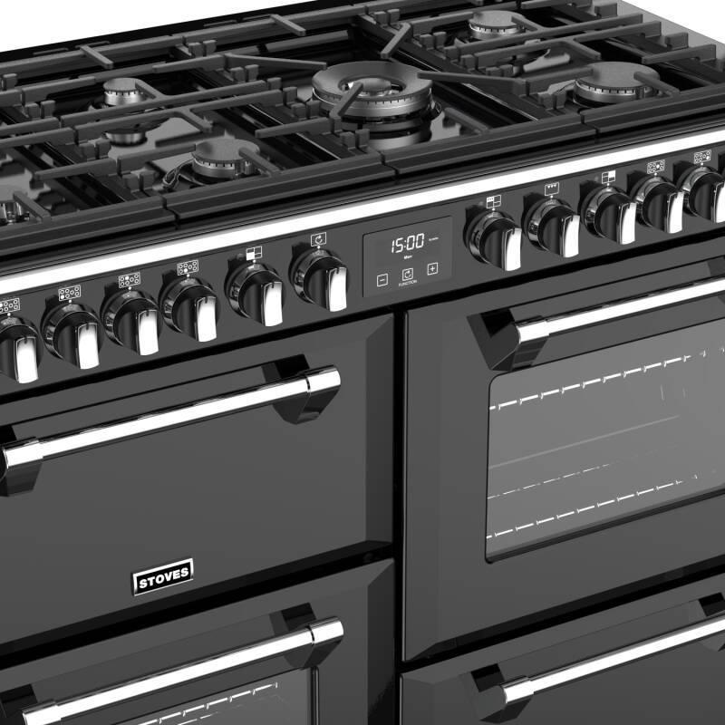 stoves richmond deluxe 110cm dual fuel range cooker. Black Bedroom Furniture Sets. Home Design Ideas