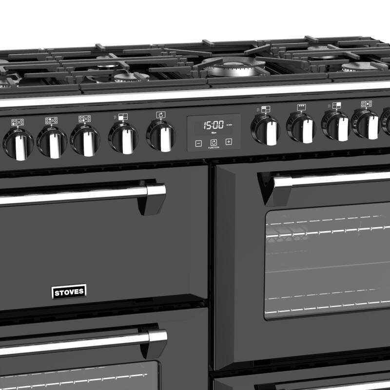 Stoves Richmond Deluxe 110cm Dual Fuel Range Cooker - Black additional image 4