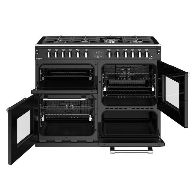 Stoves Richmond Deluxe 110cm Dual Fuel Range Cooker - Black additional image 5