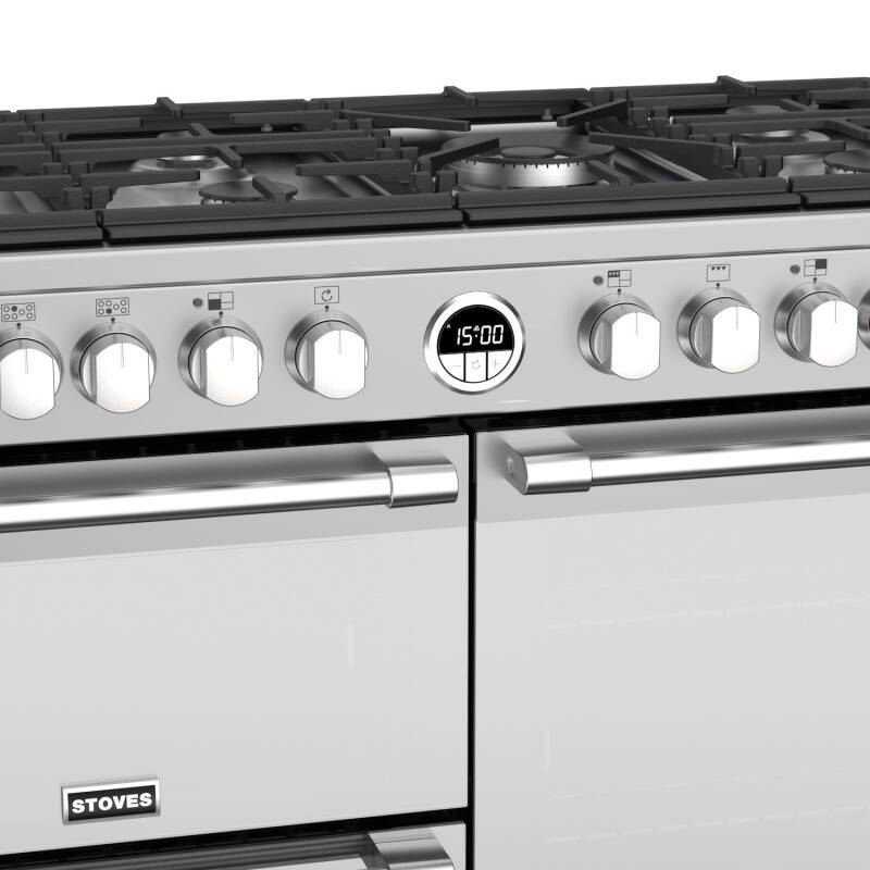 Stoves Sterling Deluxe 100cm Dual Fuel Range Cooker - Stainless Steel additional image 2