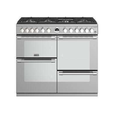 Stoves Sterling Deluxe 100cm Dual Fuel Range Cooker - Stainless Steel