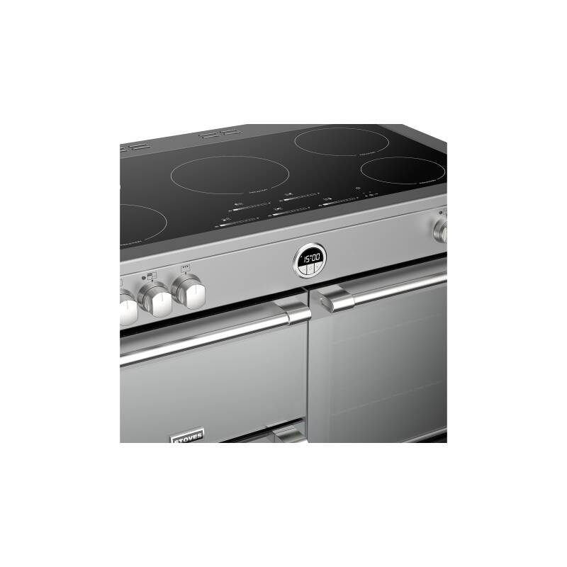 Stoves Sterling Deluxe 100cm Electric Induction Range Cooker - Stainless Steel additional image 4