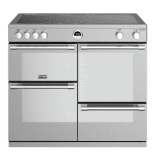Stoves Sterling Deluxe 100cm Electric Induction Range Cooker - Stainless Steel