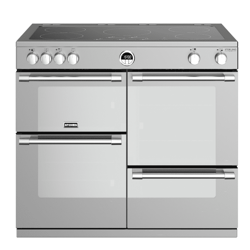 Stoves Sterling Deluxe 100cm Electric Induction Range Cooker - Stainless Steel primary image