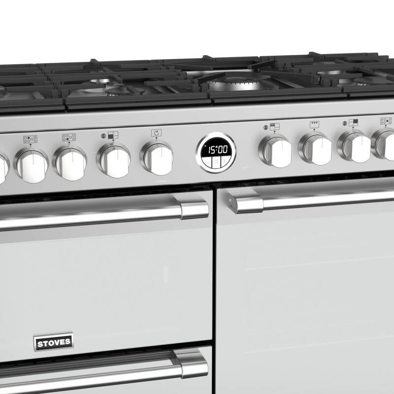 Stoves Sterling Deluxe 110cm Dual Fuel Range Cooker - Stainless Steel additional image 4