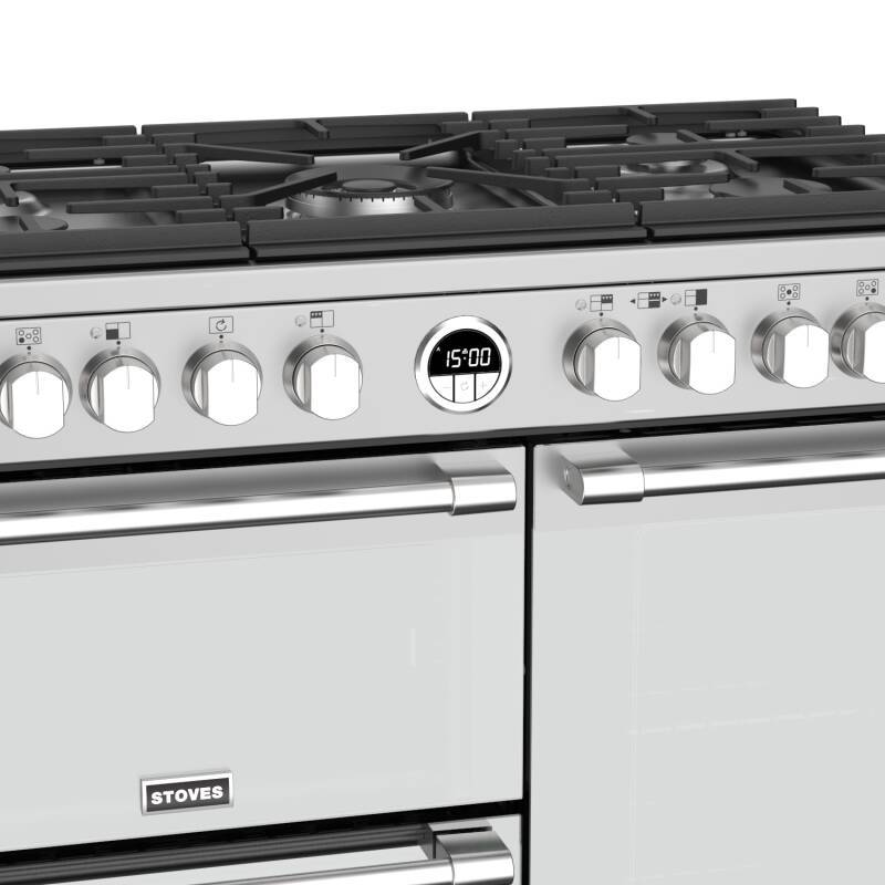 Stoves Sterling Deluxe 90cm Dual Fuel Range Cooker - Stainless Steel additional image 4