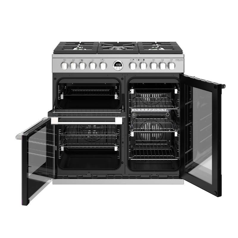 Stoves Sterling Deluxe 90cm Dual Fuel Range Cooker - Stainless Steel additional image 5