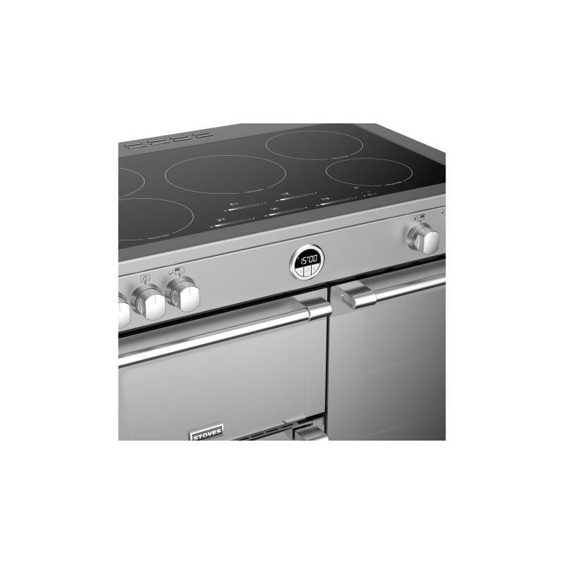 Stoves Sterling Deluxe 90cm Electric Induction Range Cooker - Stainless Steel additional image 1