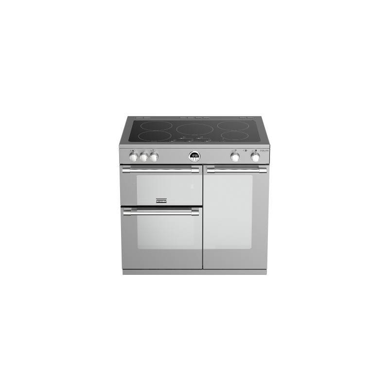 Stoves Sterling Deluxe 90cm Electric Induction Range Cooker - Stainless Steel additional image 2