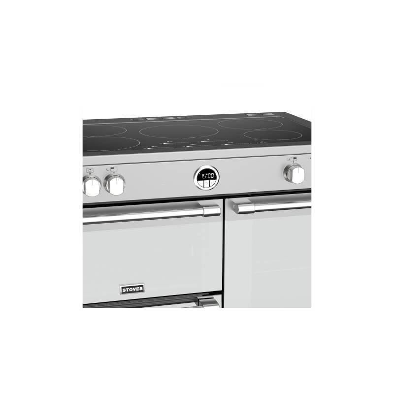 Stoves Sterling Deluxe 90cm Electric Induction Range Cooker - Stainless Steel additional image 4