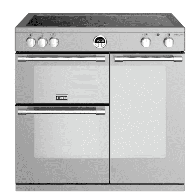 Stoves Sterling Deluxe 90cm Electric Induction Range Cooker - Stainless Steel