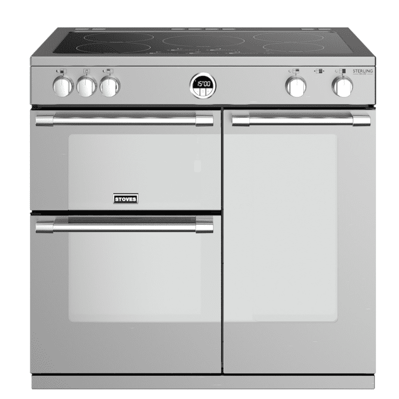 Stoves Sterling Deluxe 90cm Electric Induction Range Cooker - Stainless Steel primary image