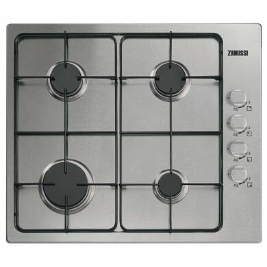 Zanussi H30xW580xD500 Gas 4 Burner Hob - Stainless Steel